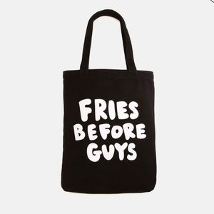 NWT Fries Before Guys Canvas Tote